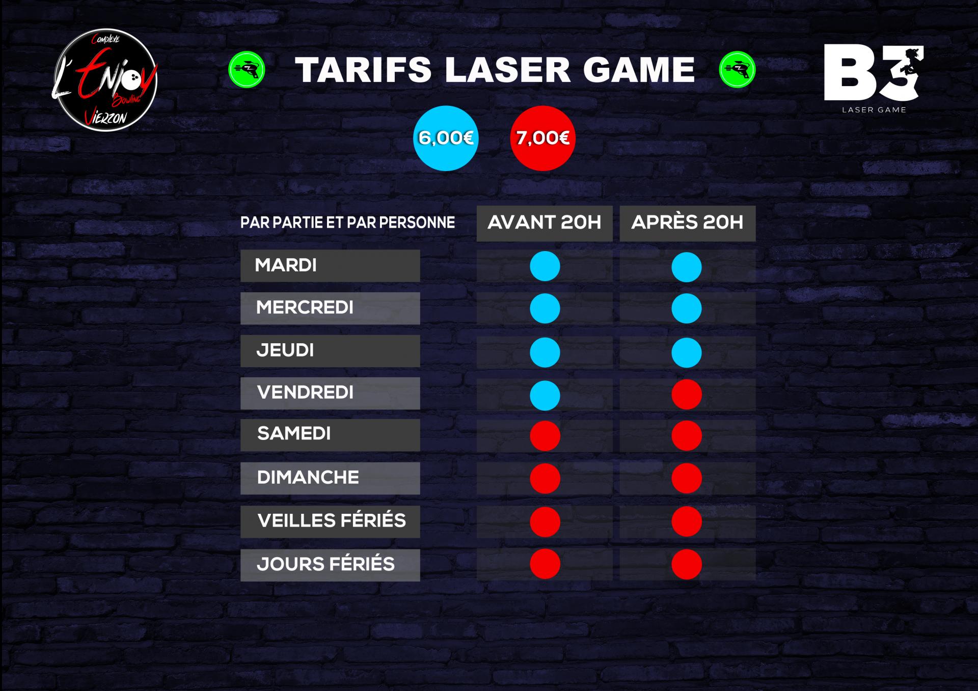 Tarif laser